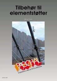 Tilbehør til elementstøtter brochure - PASCHAL-Danmark A/S