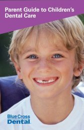 Parent Guide to Children's Dental Care - Blue Cross & Blue Shield ...
