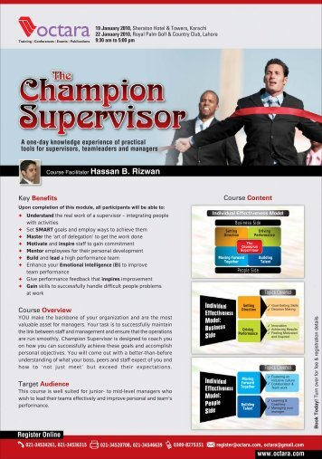 The Champion Supervisor - Octara.com