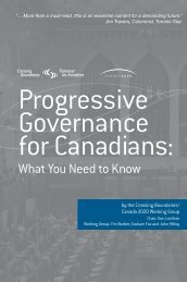 Progressive Governance for Canadians - Canada 2020