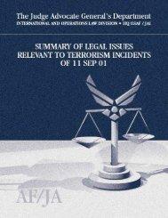 Terrorism Legal Issues Summary - Higgins Counterterrorism ...