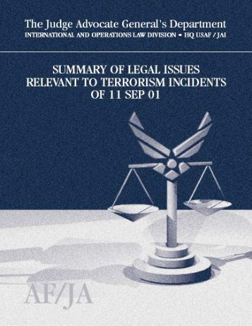 Terrorism Legal Issues Summary - Higgins Counterterrorism ...