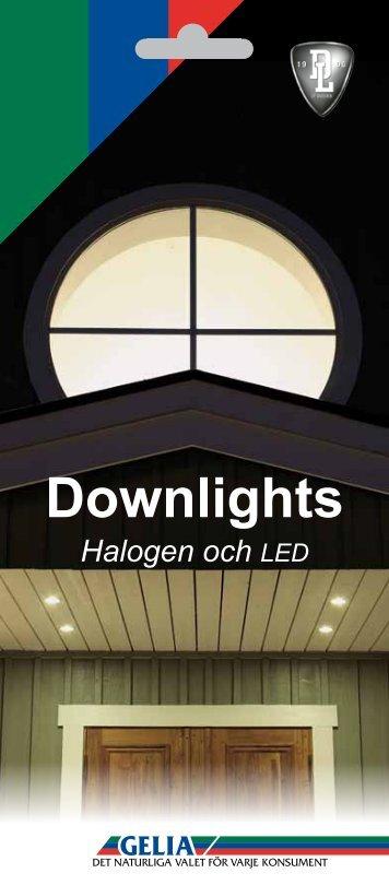 Downlights Halogen och LED - Gelia