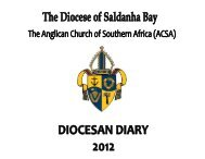 Diocese of Saldanha Bay Diary 2012 - Services