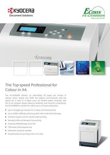 FS-C5400DN HR.pdf - KYOCERA Document Solutions