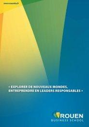 Brochure de Rouen Business School - NEOMA Business School