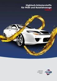 Hightech-Schmierstoffe für PKW und Nutzfahrzeuge 1/2013 - Fuchs