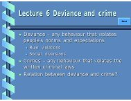 Lecture 6 Deviance and crime