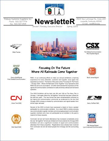 RSSI newsletter 11 x 17 - Railway Systems Suppliers, Inc.