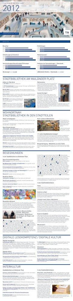 Jahresbericht 2012 (pdf) - Stadtbibliothek Stuttgart