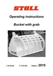 Operating instructions Bucket with grab 2010 - Wilhelm Stoll ...