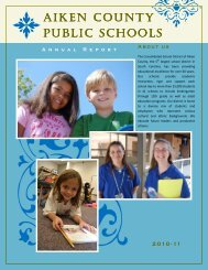 2010-11 Annual Report - Aiken County Public Schools - Website