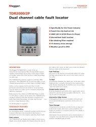TDR2000/2P Dual channel cable fault locator - Surgetek