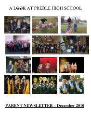 2010 December new nl.pdf - Green Bay Preble