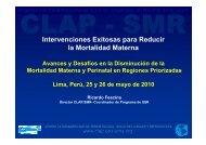 Avances y desafíos en la disminución de la mortalidad materna y ...