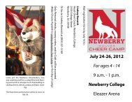 July 24-26, 2012 For ages 4 - 14 9 a.m. - 1 p.m. Newberry College ...