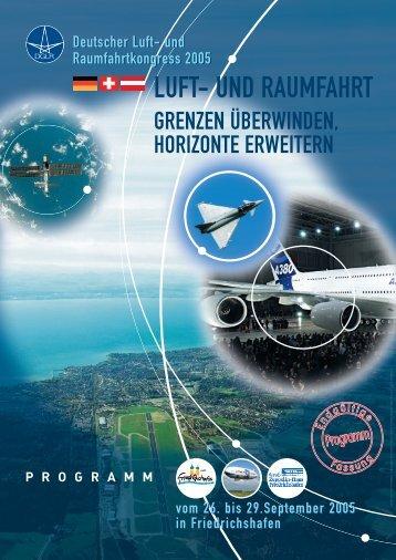 Programm des Deutschen Luft- und Raumfahrtkongresses 2005