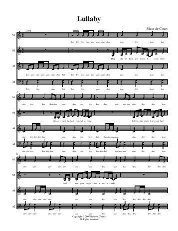 Lullaby - Random Chants