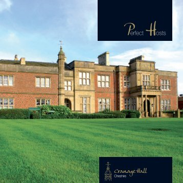 Cranage Hall Conference Brochure - Principal Hayley