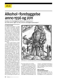 Alkohol-forebyggelse anno 1556 og 2011 - STOF