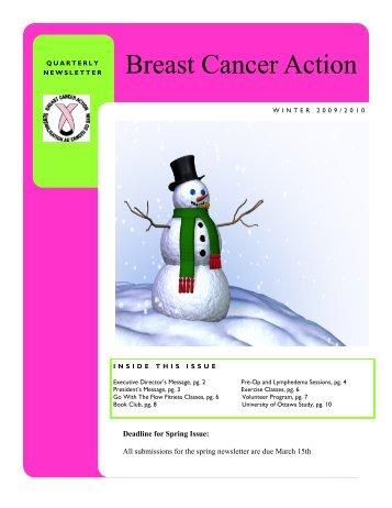 Winter 2009,2010 - Breast Cancer Action Ottawa