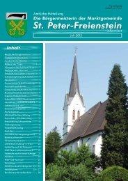 Infoblatt Juli 2012 - Gemeinde St. Peter Freienstein