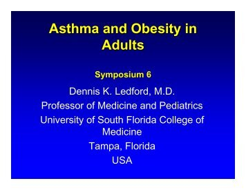 Asthma and Obesity in adults-Ledford - World Allergy Organization
