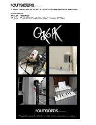 Press Release OakOak – ʻ892 Miles' 1st June ... - The Outsiders