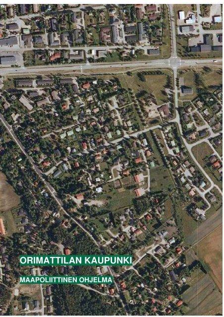 Maapoliittinen ohjelma - Orimattilan Kaupunki