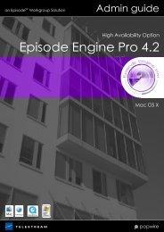 Episode Engine High Avail- ability Option - Flip4Mac