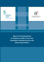 Report of the Working Group on Treatment of Under 18 olds - Drugs.ie