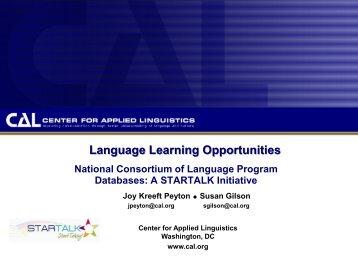 Find National Language Programs and Resources - StarTalk