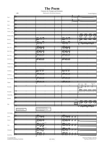 Preview sheet music (PDF) - Gehrmans Musikförlag