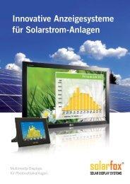 solarfox® - Solar Groß-Displays