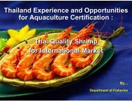 Thailand Experience and Opportunities for Aquaculture Certification ...