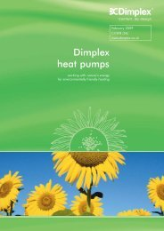 Dimplex heat pumps - WF Senate