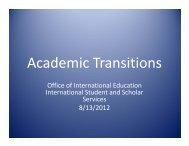 Academic Transitions - Office of International Education - Georgia ...