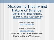 Discovering Inquiry and Nature of Science - Www2.hkedcity.net
