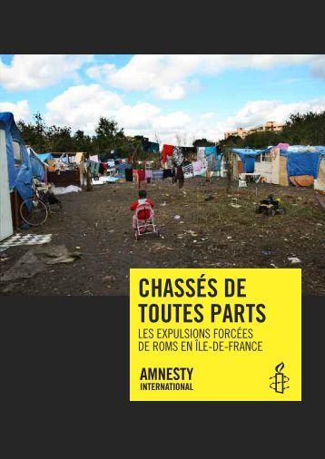 Chassés de toutes parts - Amnesty International France