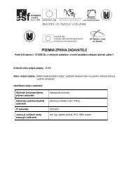 písemná zpráva zadavatele - E-ZAK MUNI - Masarykova univerzita