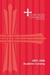 2007–2008 Academic Catalog - Concordia University Ann Arbor