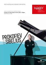 Prokofiev & Sibelius - 14 & 15 June 2013 - West Australian ...