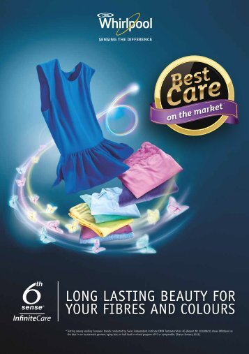 LONG LASTING BEAUTy FOR yOUR FIBRES AND ... - Whirlpool