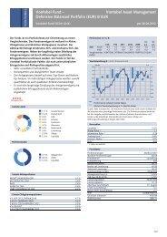 Vontobel Fund – Defensive Balanced Portfolio (EUR) B ... - Raiffeisen