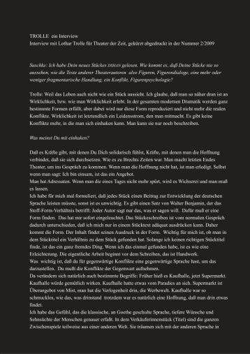 TROLLE ein Interview Interview mit Lothar Trolle ... - Stephan Suschke