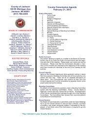 (517) 788-4335 County Commission Agenda ... - Jackson County