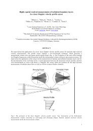 Highly spatial resolved measurements of turbulent boundary layers ...