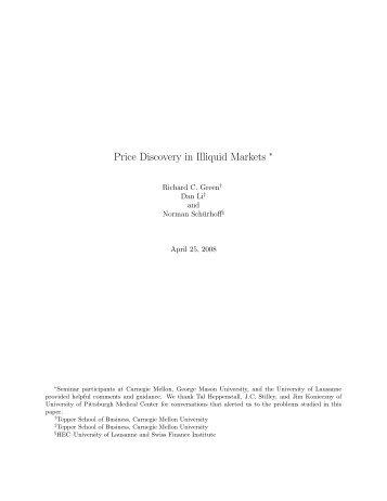 Price Discovery in Illiquid Markets - CEREG