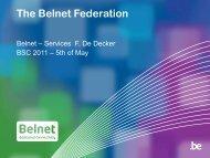 The Belnet Federation - Belnet - Events