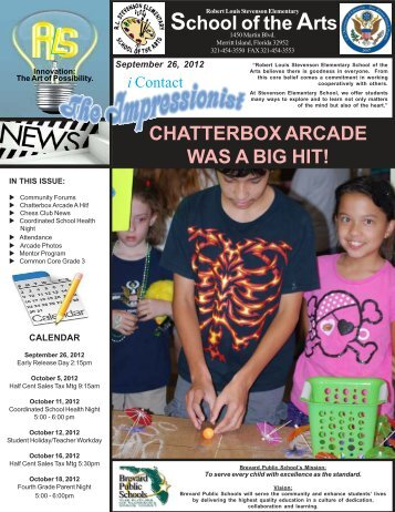 School of the Arts CHATTERBOX ARCADE WAS A BIG HIT!